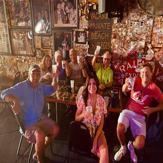 Hemingway Tours at a bar