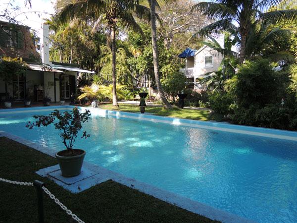 Pool at the Ernest Hemingway Home - Key West Florida