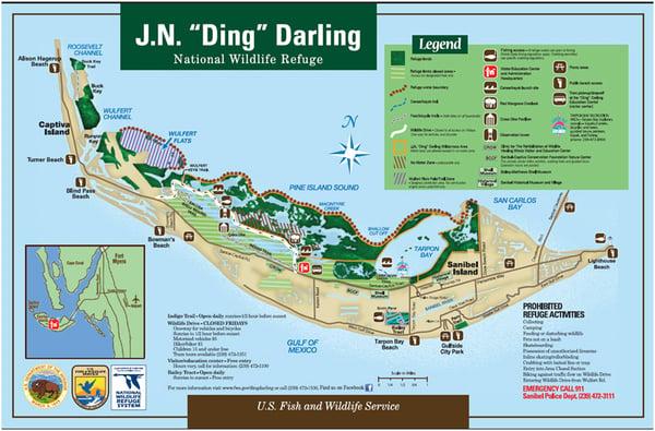 Ding Darling Refuge Map