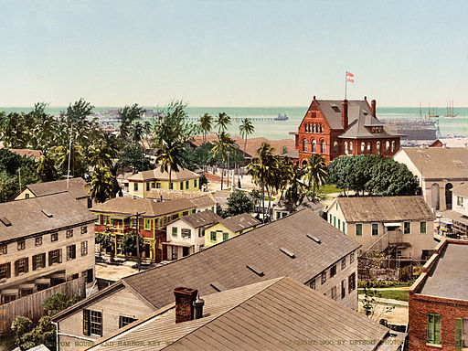 512px-Custom_House_and_harbor,_Key_West,_Florida,_1900
