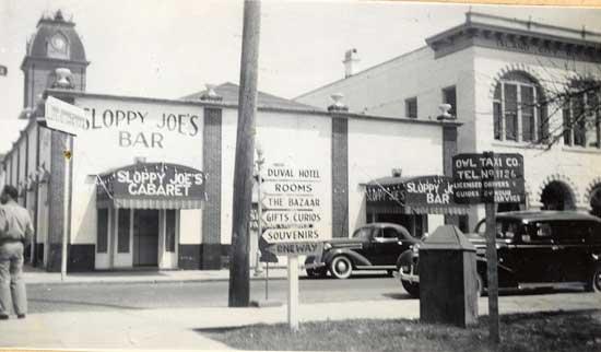 1940's era photo of Sloppy Joe's Key West