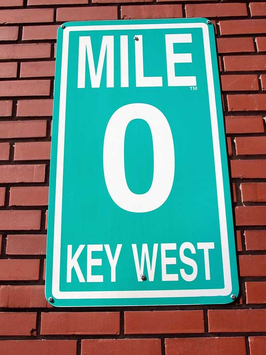 Key West Mile Marker Zero Sign