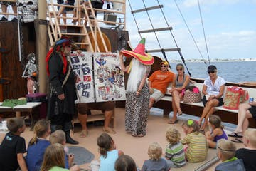 Kids on the Pirate Boat in Fort Myers, Florida